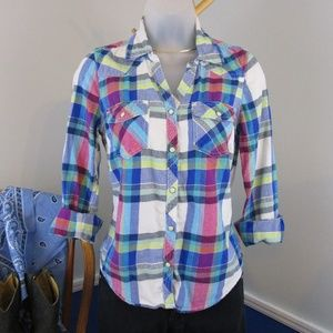 ✨Host Pick✨ Sonoma Plaid Western Snap Front Shirt